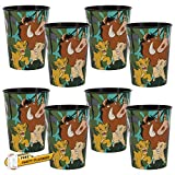 Unique 8 Count Lion King Party Cups | Birthday Party Favors for Kids, Girls, Tweens | Officially Licensed 16 oz