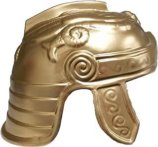 Jacobson Hat Company Roman Trojan Warrior Soldier Costume Helmet, Gold