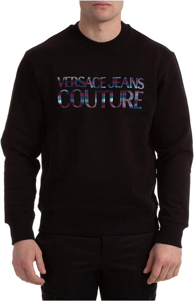 Versace jeans couture, felpa per uomo ,100 cotone, taglia m EB7GWA7GE-E30438_E899