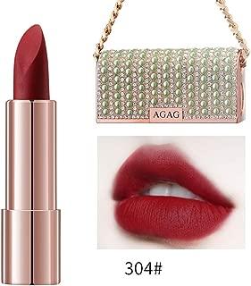 DAGEDA Chain Bag Lipstick, Velvet Matte Moisturizing Lipstick, All-Day Wear, Silicone Free, Cruelty Free, Unique Sparkle Lipstick Shell(Queen 304#)