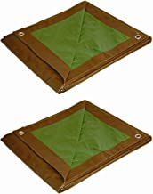 Foremost Dry Top 90057 5 ft x 7 ft Brown/Green Reversible Full Size 5-Mil Poly Tarp - Bulk Pack of 2