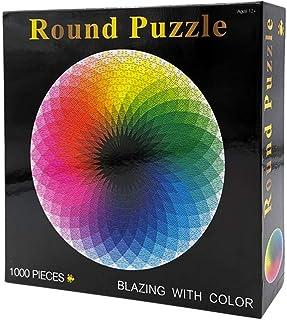 1000 pcs/set Colorful Rainbow Round Geometrical Photopuzzle Adult Kids DIY Educational Toy Jigsaw Puzzle Paper AZ056