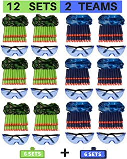Wishery Nerf Party Supplies Compatible with Nerf Guns. 12 Kids - Nerf Birthday Party Favors, Accessories