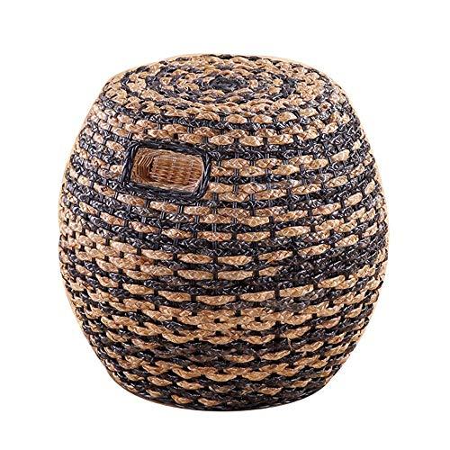 Taburete Sofá Taburete Brisk Taburete de ratán para el hogar Taburete de ratán real Taburete de mesa de comedor de ratán Taburete redondo de ratán Taburete alto Silla de ratán eh /