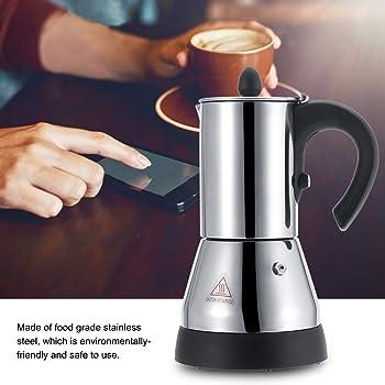 Cafetera exprés para estufa, olla Moka, cafetera eléctrica italiana de acero inoxidable, 200/300ml(300ml): Amazon.es: Hogar