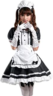 Women's Anime Cosplay French Apron Maid Fancy Dress Costume