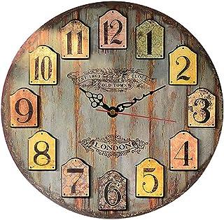 MGT0063 (30 x 30 cm) Analog wood-Wall Clock multi color