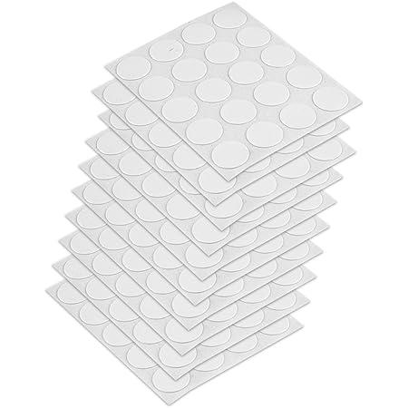 Emuca 4026415 Tapa embellecedora adhesiva, Ø13mm, Blanco, Lote de 200 piezas