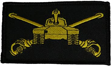 U.S. ARMY ARMORED CAVALRY CROSSED SABERS AND TANK 2 PIECE PATCH - Subdued Hook and Loop - Veteran Owned Business.