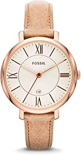 Fossil Jacqueline Women's White Dial Leather Band Watch - ES3487P