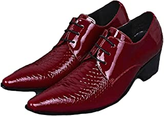 Cover Plus 2 Color Size 5-12 Genuine Leather Dress Lace up Oxfords Pointed Toe Mens Shoes