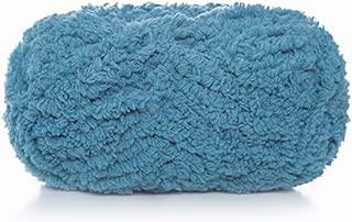 Celine lin One Skein Super Soft Warm Coral Fleece Knitting Yarn Fluffy Fuzzy Yarn Baby Blanket Yarn-Machine/Hand Wash & Dry,50g Ink Blue