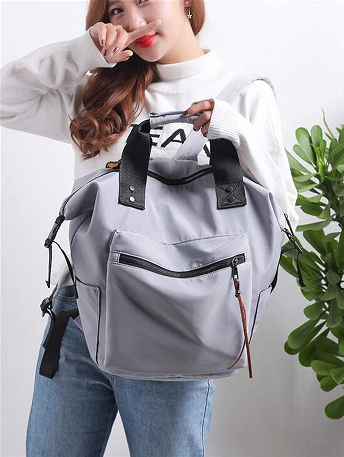 YUHUS HOME Personality Backpacks Creative Nylon Student Tide Bag Shoulder Bag Casual Outdoor Backpack
