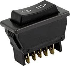 uxcell Car Vehicle Black Plastic Momentary 5 Pins Power Window Master Switch