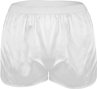 Aiihoo Men's Silky Satin Boxer Shorts Casual Loose Beach Shorts Pajamas Bottoms Short Pants Underwear