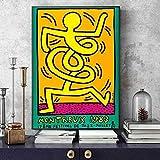 Munxag Personnalis¨¦ Impressions sur Toile C¨¦l¨¨bre Pop Street Art par Keith Haring Affiches Et Estampes Abstrait Graffiti Art Toile Peintures Mur Art Photo D¨¦coration De La Maison 40x50cm