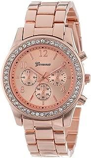 ETbotu Women Stylish Quartz Watch with Alloy Watchband 3 Small Dial Wrist Watch Ornament