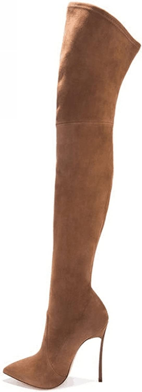 Taylor Heart Nice;Fashion Autumn Winter Women Boots Stretch Slim Thigh High Boots Fashion Over The Knee Boots High Heels shoes Woman Sapatos