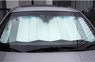 Lukzer 1 Pc Car Sunshade/UV Ray Reflector/Auto Window Sun Shade Visor Shield Cover, Keeps Vehicle Cool/Foldable Windshield Car Cover Visor