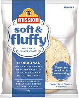 Mission Delicious Snack Wraps, Soft & Fluffy, 12 wraps, 450g
