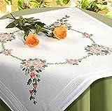 Kamaca Stickpackung Blumen Sinfonie Spannstich Stielstich Plattstich vorgezeichnet aus 100%...