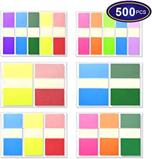 Colored Page Markers Sticky Flags 500 Pcs, Neon Sticky Index Tabs for Books and Notebooks, Pop-up Transluscent Arrow Flags Reading Tabs [6 Sets 3 Size]