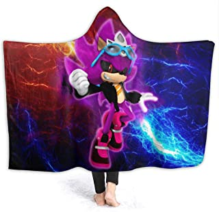 Winter Wearable Blankets for Kids Adult, Super Mode Scourge The Hedgehog Hooded Blankets for Pretend Play, Beach, Large Moving Throw Blanket, 60