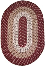 product image for Plymouth 8' x 11' Braided Rug in Burgundy Made in New England