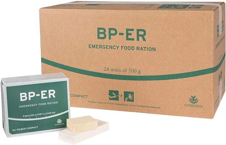 Alimenti a lungo termine per esterni, in campeggio e in situazioni di crisi 24 x 500 grammi lebenskraft B07PW177WS