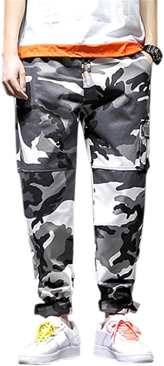 cheap supreme QZH.DUAO Men's Cargo Jogger Pants Camouflage