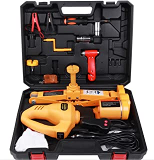 Electric Car Jack,12V DC 3T Electric Hydraulic Floor Jack Lift Lifting Set with 1/2