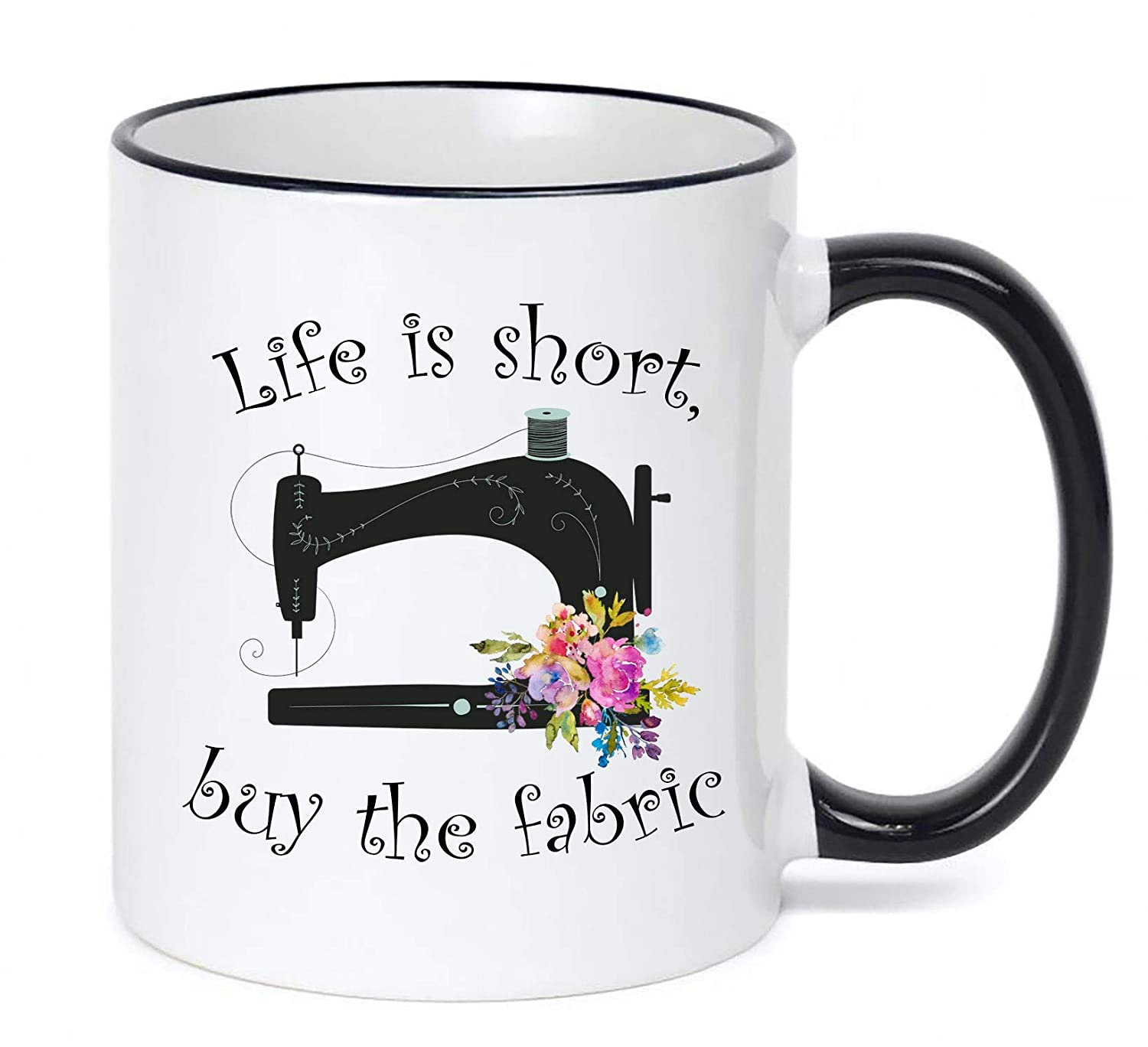 Sewing Mug Life Is 70% OFF Outlet Short Buy Max 40% OFF Fabric the