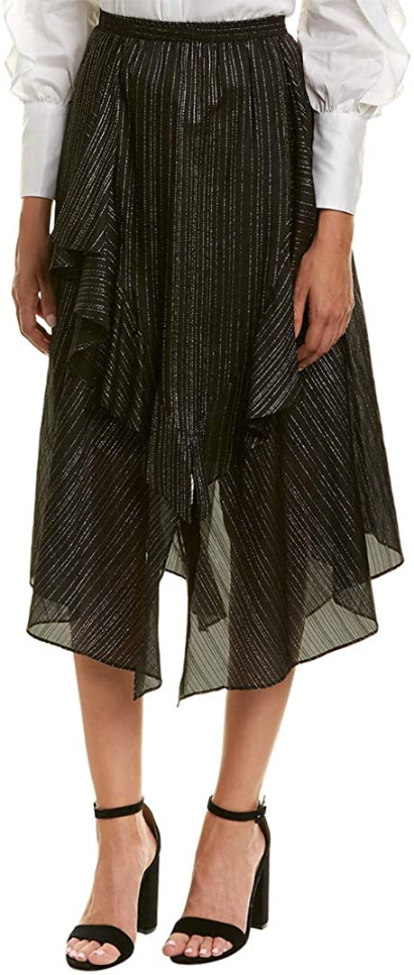 BCBGMAXAZRIA Women's Asymmetrical A-line Skirt