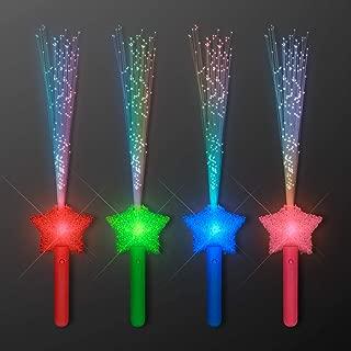 FlashingBlinkyLights Assorted Star Fiber Optic Wands (Set of 4)