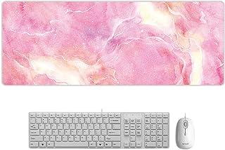 マウスパッド 大理石 大型 デスクマット PCマット 超大型 ゲーミングマウスパッド おしゃれ 防水 耐久性 滑り止め オフィス ゲーム 900*400*3mm (7)