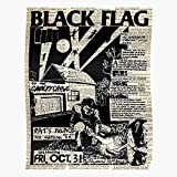 Sconosciuto Punk Mercy Flag The of Glam Funk Dance Black Pop Four Alternative Gang Art Home Decor Wall Art Print Poster !