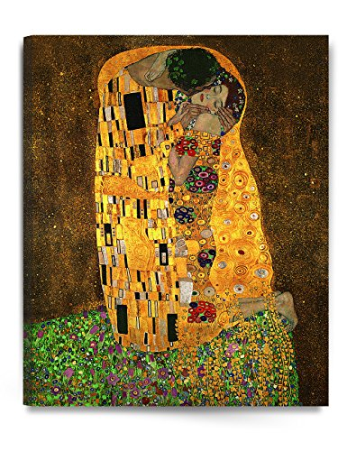 DECORARTS - The Kiss, by Gustav Klimt. Giclee Printed on Canvas Stretched Gallery Wrapped, Ready to Hang 24x30