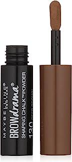 Maybelline New York Brow Drama Shaping Chalk Powder, Deep Brown, 0.035 fl. oz.