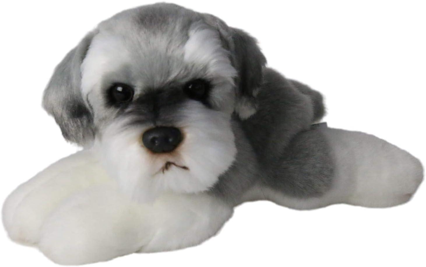 caralin Handmade Simulation Standard Schnauzer Dog Toy Doll Stuf