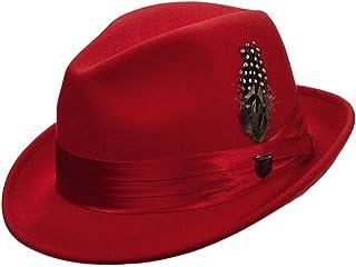 Stacy Adams Men s Crushable Wool Felt Snap Brim Fedora Hat 965288d0a92f