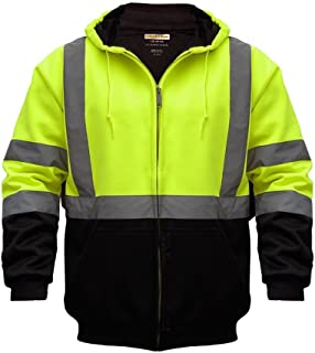 Utility Pro UHV425 High-Vis Safety Soft Shell Hoodie with Waterproof DuPont Teflon, Lime, 2X-Large