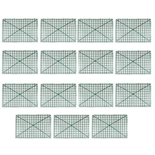 MOVKZACV Marco de pared para plantas de cuadrícula de 60 x 40 cm, marco de plástico, rejilla de flores para el hogar, decoración de arcos doblados, telón de fondo doblado, fila, con 247 clavos