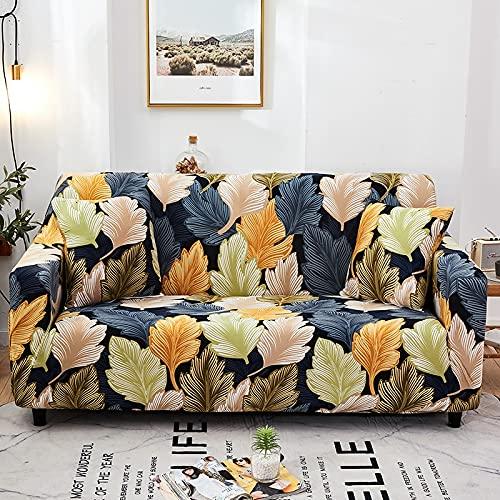Impresión de Estilo Europeo Funda de sofá elástica Sala de Estar Sofá de Esquina Sofá Toalla Cubierta de Muebles Cubierta de Flor elástica Sombrero A18 4 plazas