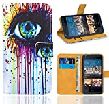HTC Desire 626 626G Handy Tasche, FoneExpert® Wallet Hülle Flip Cover Hüllen Etui Ledertasche Lederhülle Premium Schutzhülle für HTC Desire 626 626G (Pattern 10)