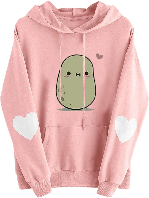 Hoodies for Women Fashion Soft Long Sleeve Cute Carton Sweatshirts Casual Pullover Hooded Tops