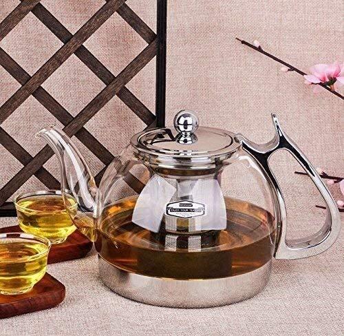 Bouilloire induction Cuisinière à induction de théière en verre spécial en acier inoxydable cuisinière à thé électrique curée en céramique pour bureau à domicile extérieur WHLONG