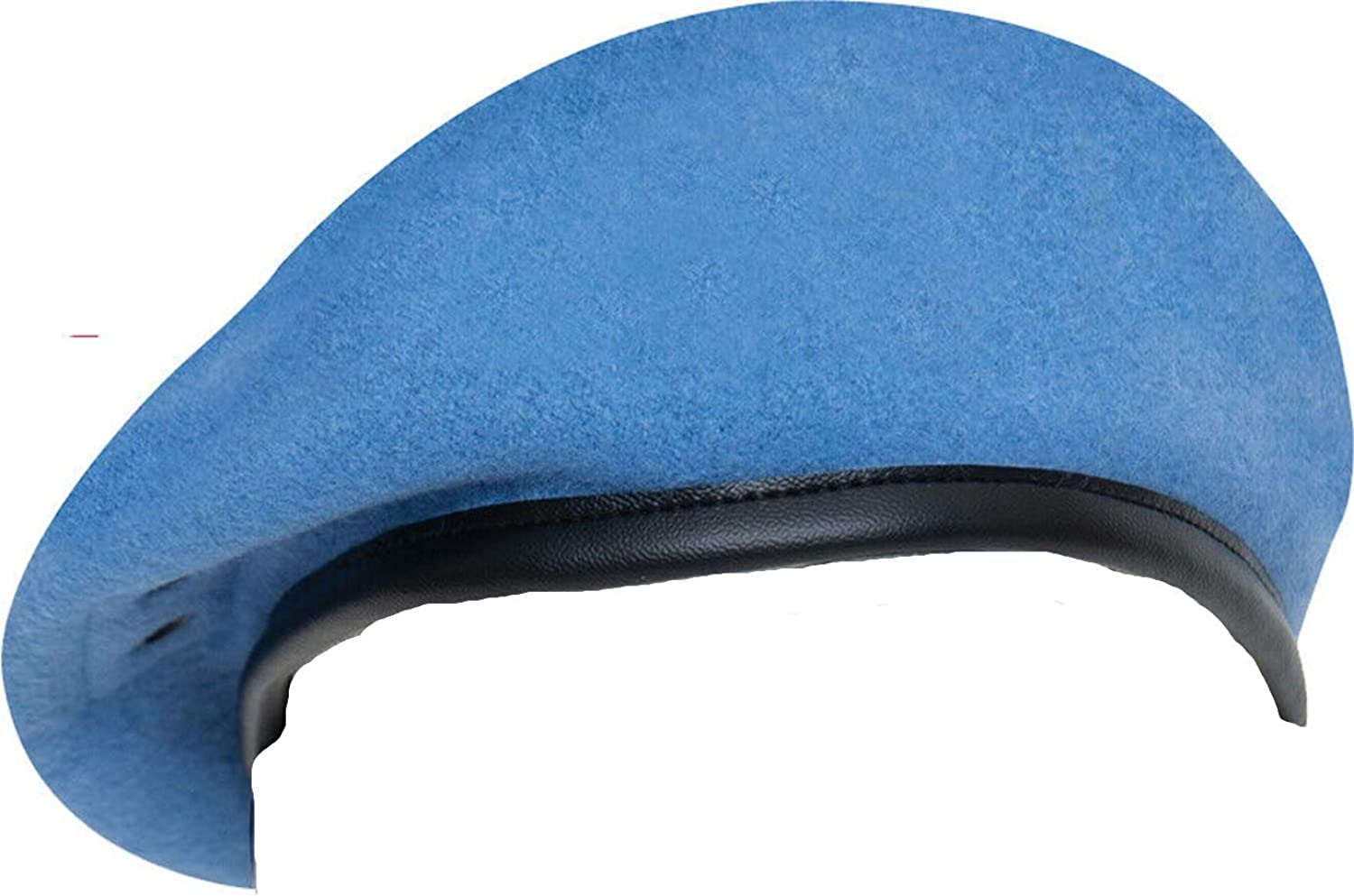 Classic Wool Military Beret - with Eyelets Army Uniform Warm Winter Hat Fashion ~ Light Blue ~