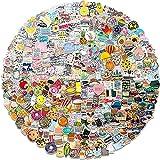 Amitorfo 400 Stück Gemischte Aufkleber Sticker Set für Laptop Skateboard Fahrrad Motorrad Koffer Wasserflasche Pad Sticker Vintage Vinyl Wasserdichte Aesthetic Aufkleber Junge Mädchen...