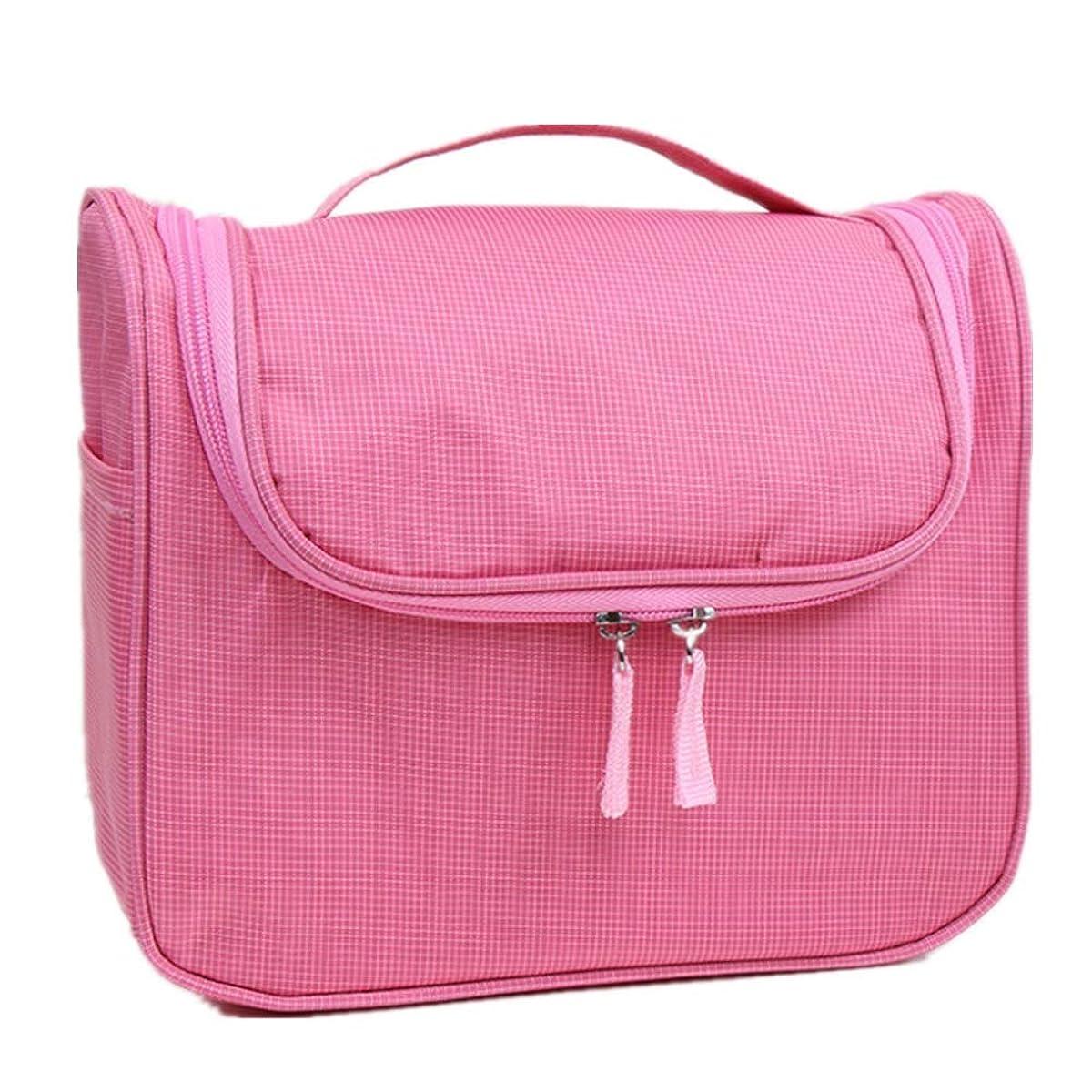誇りに思うあごコンクリート化粧オーガナイザーバッグ 大容量の旅行化粧品バッグ丈夫で耐久性のある洗濯可能な化粧品保管コンセントレーションバッグウォッシュバッグ 化粧品ケース (色 : ピンク)