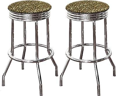 Amazon Com The Furniture Cove Bar Stool Set With 2 29